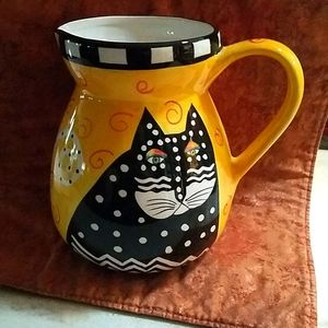 Laurel Burch Yellow Vase